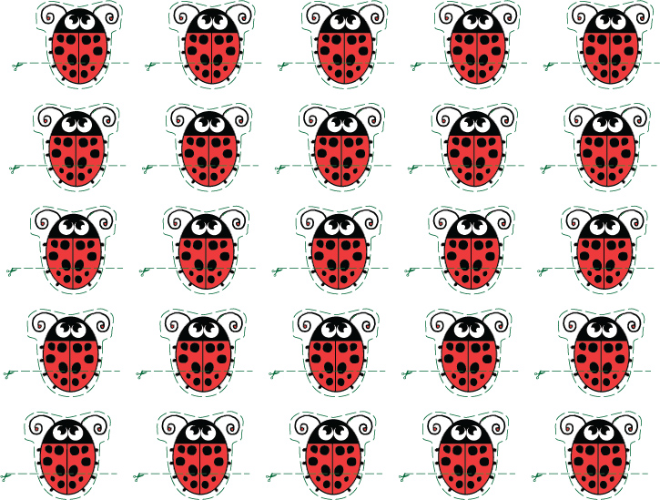 New lady bug print