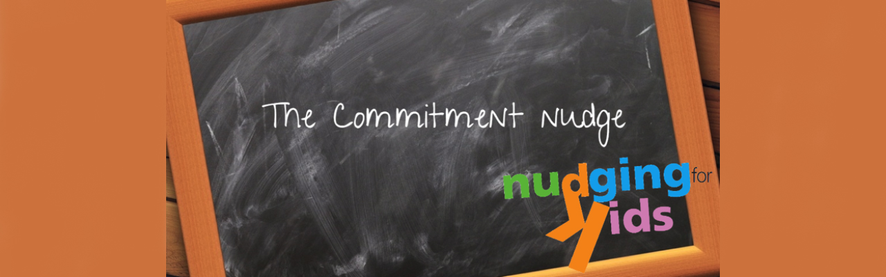 What is a commitment nudge? Parents can use this visual creation….