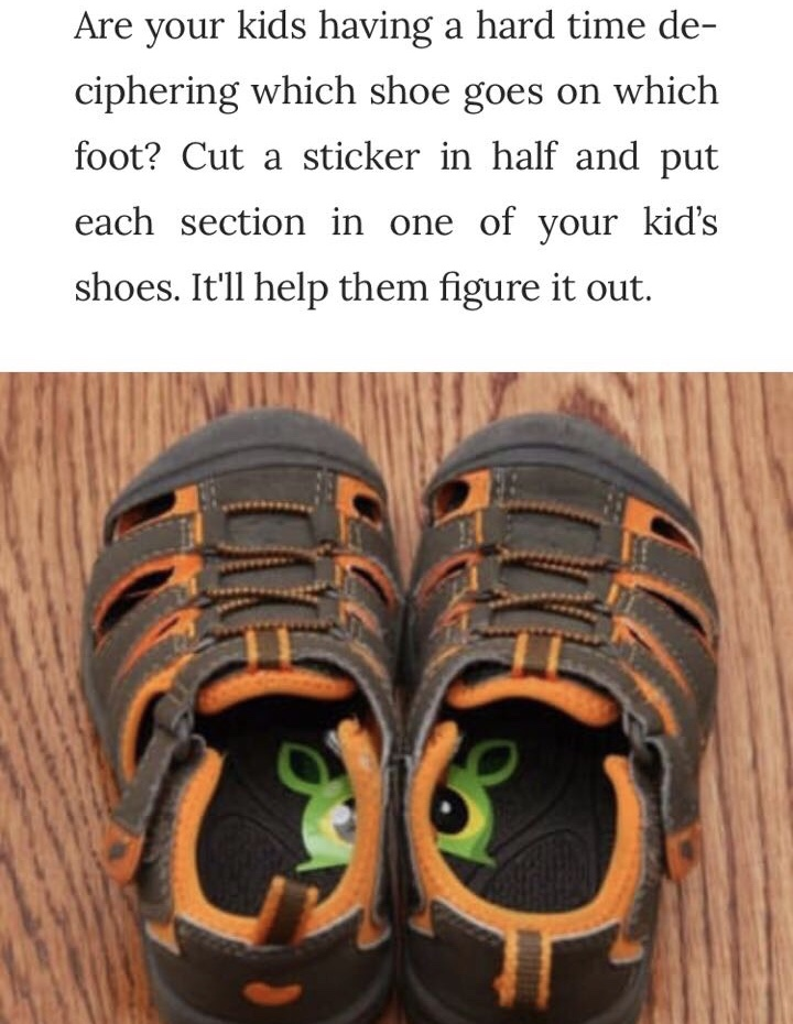 shoe sticker